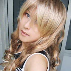 Blonde  Vampire Knight WIG0032 Long Wavy Nylon Cosplay Wig