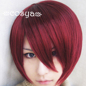 Red Vampire Knight WIG0036 Short Nylon Cosplay Wig