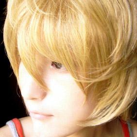 Blonde Kinironokoruda WIG0040  Short Curly Nylon Cosplay Wig