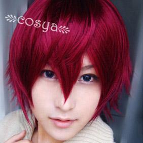 Red Kinironokoruda WIG0041 Short Nylon Cosplay Wig