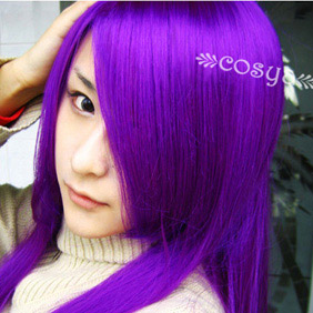 Purple  Kinironokoruda WIG0042 Long Nylon Cosplay Wig