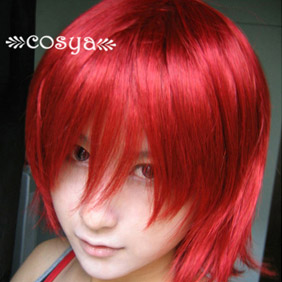 Red  Harukanaru Toki no Naka de WIG0052 Short Nylon Cosplay Wig