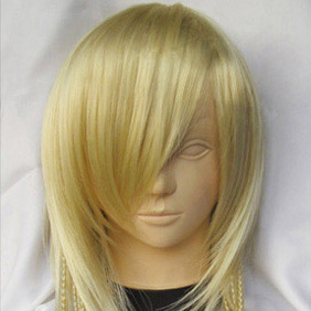 Yellow  Long Straight Nylon Cosplay Wig