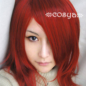 Red Long Straight Nylon Cosplay Wig
