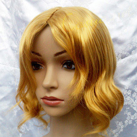 Blonde  Axis Powers Hetalia  France Short Curly  Nylon Cosplay Wig