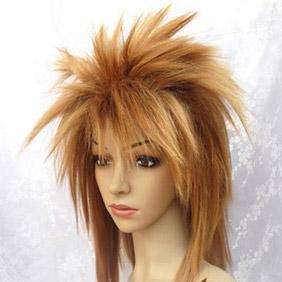 Light coffee Semi-Long Nylon Cosplay Wig