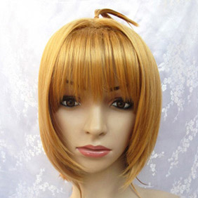 Light coffee  Tsubasa  Kinomo&Sakura Short Nylon Cosplay Wig