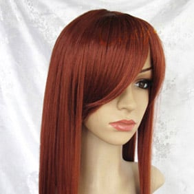 Brown  Long Straight  Nylon Cosplay Wig
