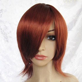 Brown Short Curly Nylon Cosplay Wig