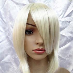 Blonde  Short Straight  Nylon Cosplay Wig