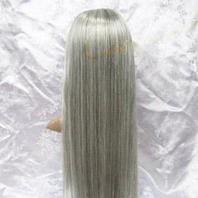 Silver Long Straight  Nylon Cosplay Wig