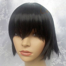 Black CODE GEASS R2 Lelouch Lamperouge Short Nylon Cosplay Wig
