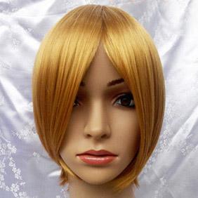 Orange Short Straight Nylon Cosplay Wig