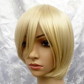 Blonde Harukanaru Toki no Naka de Nagi Short Nylon Cosplay Wig