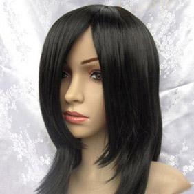 Black Long Straight  Nylon Cosplay Wig