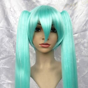 Blue 100cm VOCALOID2 Hatsune Miku Long Straight Nylon Cosplay Wig