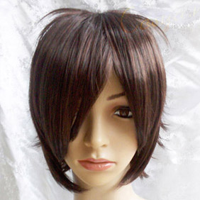 Dark Brown Short Nylon Cosplay Wig