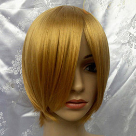 Blonde Short Nylon Cosplay Wig