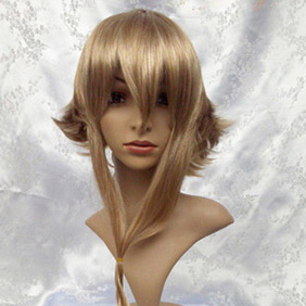 Brown 40cmSOUL EATER  Medousa Semi-Long Wavy Nylon Cosplay Wig