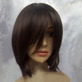 Dark Brown  Short Straight Nylon Cosplay Wig