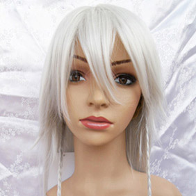 White Pandora Hearts  Alice (Silvery) Long Straight Nylon Cosplay Wig