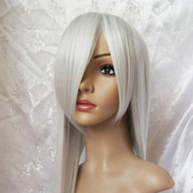 White Vampire Knight  Hiou Shizuka Long Straight Nylon Cosplay Wig