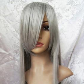 Light Gray FINAL FANTASY VII  Sephiroth Long Straight Nylon Cosplay Wig