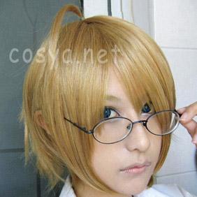 Blonde Axis Powers Hetalia  America Short Nylon Cosplay Wig