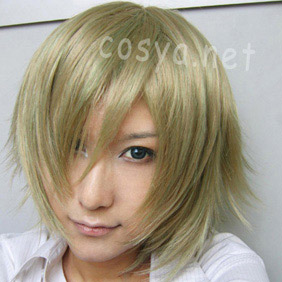 Blonde Lamento -BEYOND THE VOID-konoe Short Nylon Cosplay Wig