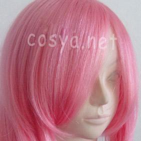 Pink Gundam  Lacus Clyne Long Wavy Nylon Cosplay Wig