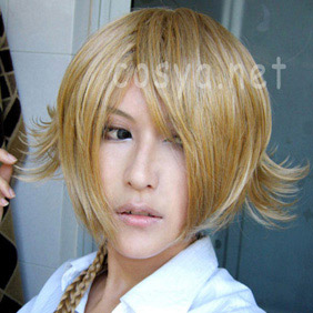Blonde CODE GEASS R2 Gino Short Nylon Cosplay Wig