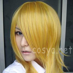 Blonde Pandora Hearts  Vincent Nightray Semi-Long Curly Nylon Cosplay Wig