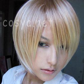 Blonde Axis Powers Hetalia  America  Russia Short Nylon Cosplay Wig