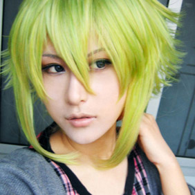 Light Green Semi-Long Nylon Cosplay Wig