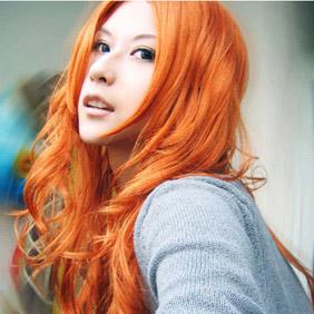 Orange Long Nylon Cosplay Wig