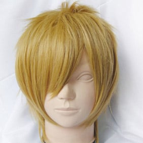 Yellow DURARARA  Heiwajima Shizuo Short Nylon Cosplay Wig