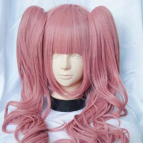 Pink ONE PIECE  pellona Long Wavy Nylon Cosplay Wig