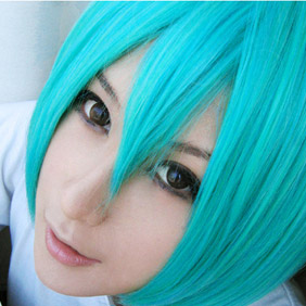 Light Blue Katekyo Hitman Reborn Furan Short Nylon Cosplay Wig