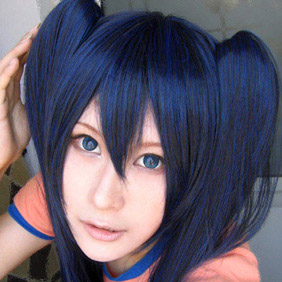 Dark Blue VOCALOID Hatsune Miku brsLong Straight Nylon Cosplay Wig