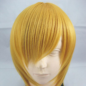 Yellow Short Nylon Cosplay Wig