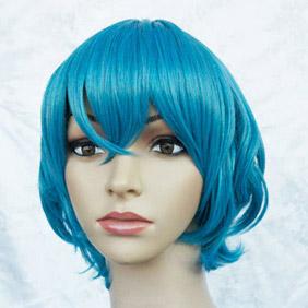 Blue Starry☆Sky Iku Mizushima Short Curly Nylon Cosplay Wig