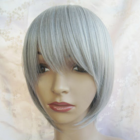 Light Gray Vocaloid Gumi Short Nylon Cosplay Wig