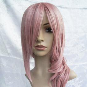Pink Pandora Hearts Cheshire Long Wavy Nylon Cosplay Wig