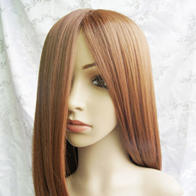Orange High-temperature Fiber Long Straight Nylon Cosplay Wig