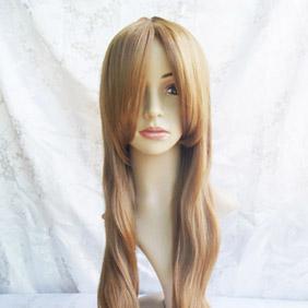Orange High-temperature Fiber ! Rozen Maiden Suiseiseki   Long Wavy Nylon Cosplay Wig