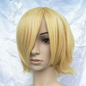 Blonde  High-temperature Fiber !Ouran High School Host Club Honey Short Nylon Cosplay Wig