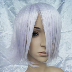 White  High-temperature Fiber !Pandora Hearts Break Short Nylon Cosplay Wig