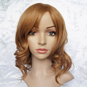 Light Brown Axis Powers Axis Powers Hetalia America Female Semi-Long Wavy Nylon Cosplay Wig