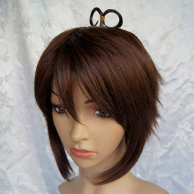 Brown Axis Powers Axis Powers Hetalia Greece Short Nylon Cosplay Wig