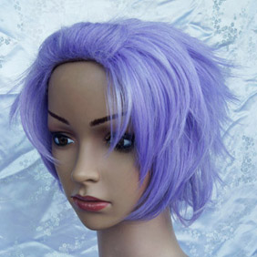 Light Purple Starry sky Tsubasa Amaha Short Nylon Cosplay Wig